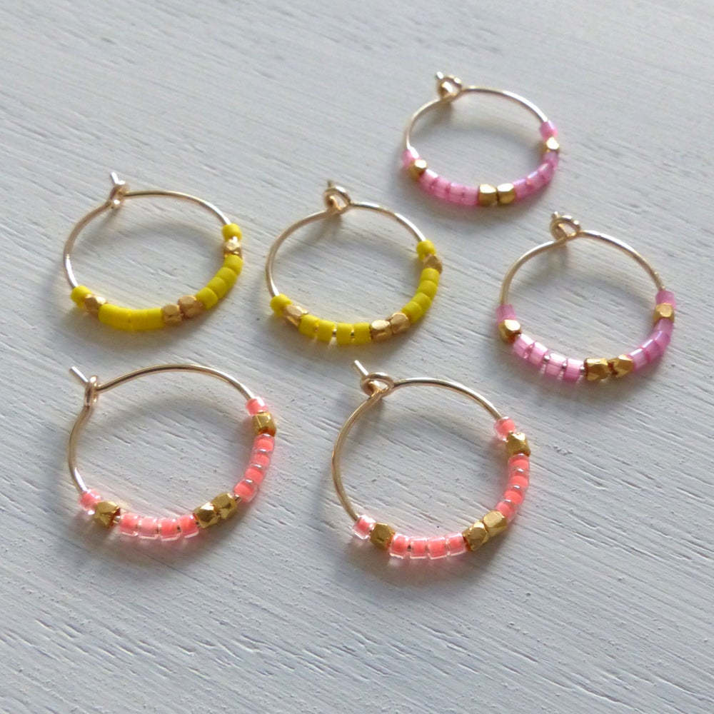 Image of Petite Fair Trade And Neon Delica Hoops