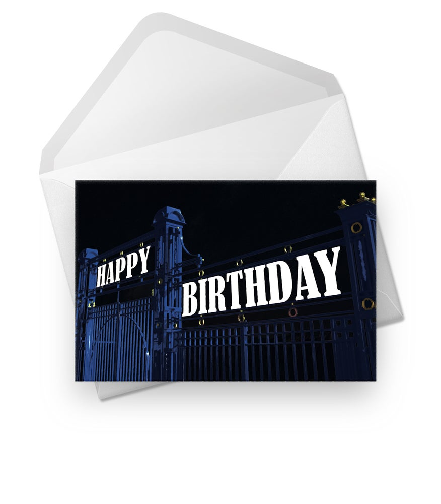 Image of Birthday Card for Rangers Fans