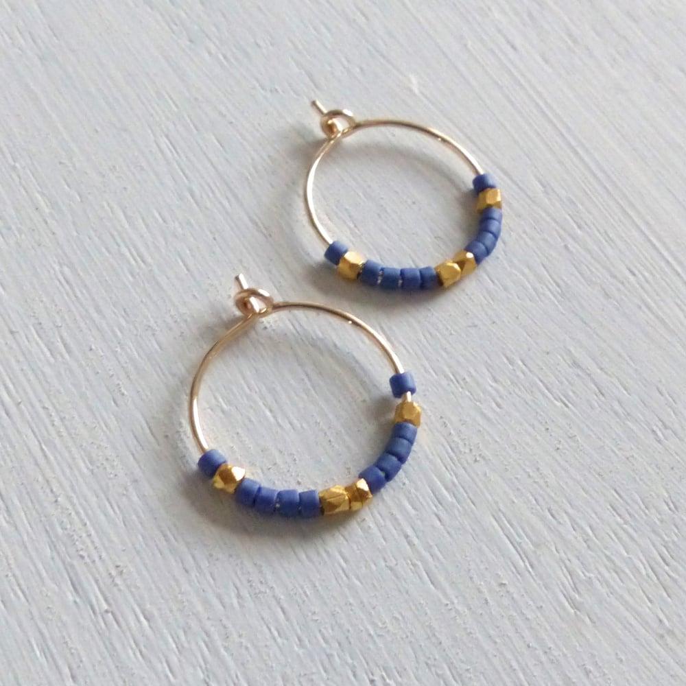 Image of Petite Fair Trade And Ocean Inspired Bead Hoop Earrings