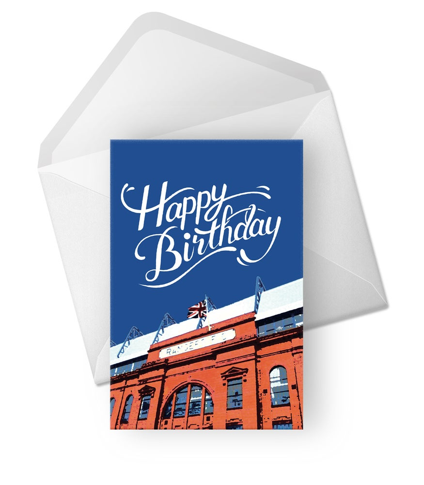 Image of New! Birthday Card for Rangers Fans!