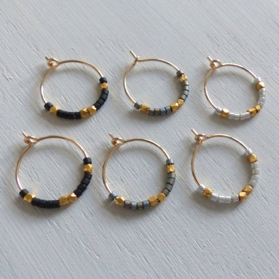 Image of Petite Fair Trade Evening Hoop Earrings
