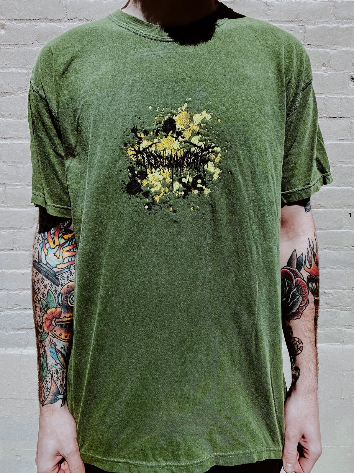 Image of EMBROIDERY SPLATTER TEE