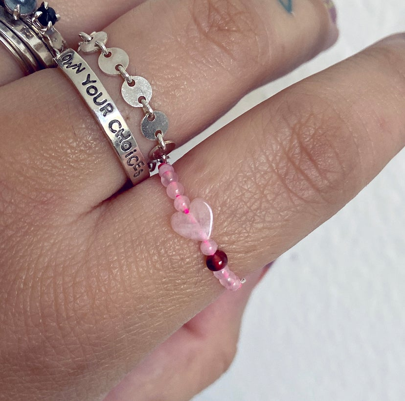 Image of Rose quartz love ring