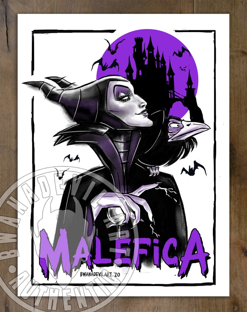 Image of Malefica Art Print 9 x 12 in.