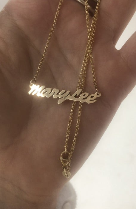 Image of Custom Nameplate Necklace
