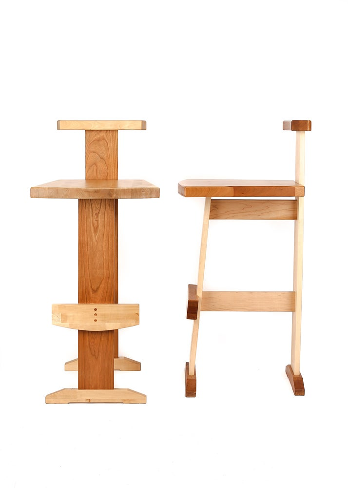 Image of Barstool w/ Back