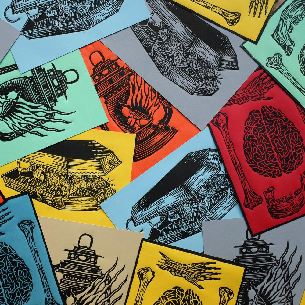 Image of MINI PRINTS #2 <br>(linocut prints)