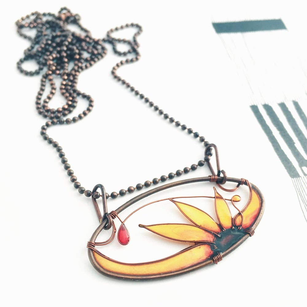 Image of Sunflower Necklace