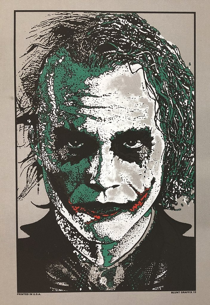 Image of Heath Ledger THE JOKER Screenprint • SILVER METALLIC Artist Proof Edition