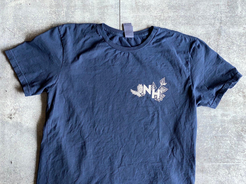 Image of Vintage Navy Botanical Live Free or Die Shirt