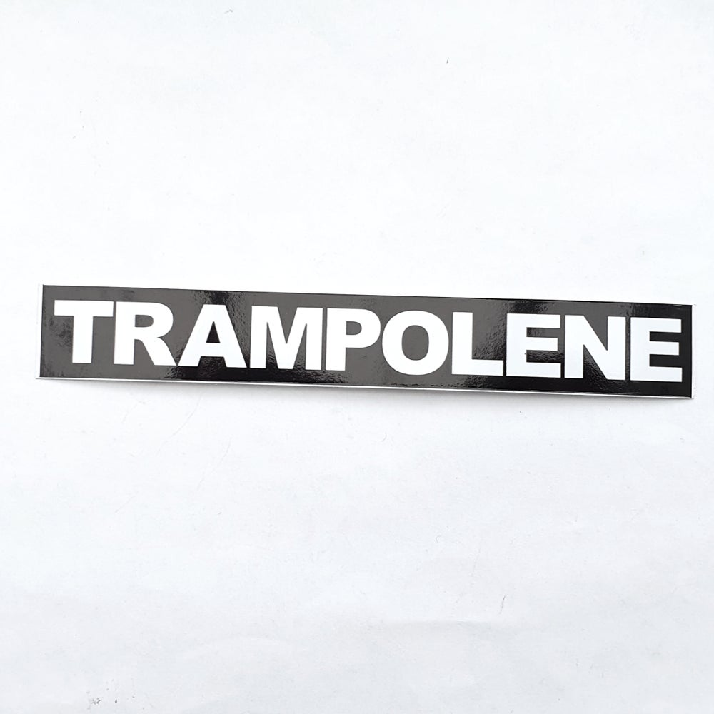 Image of TRAMPOLENE vinyl sticker