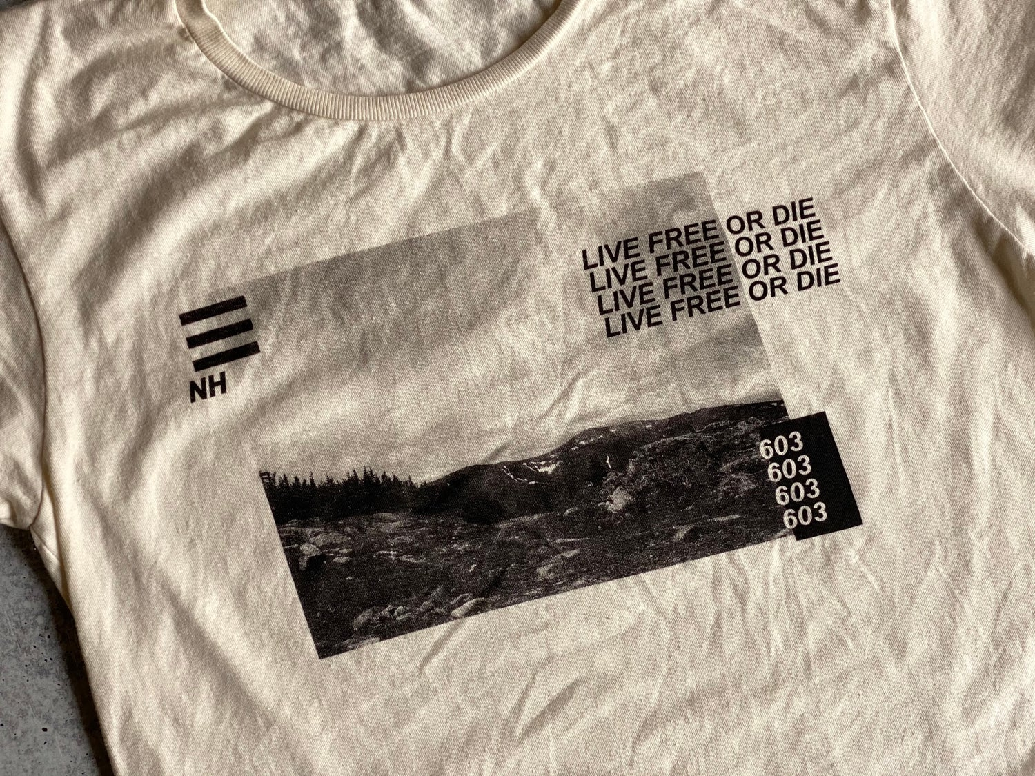 Image of Live Free or Die Photo Shirt