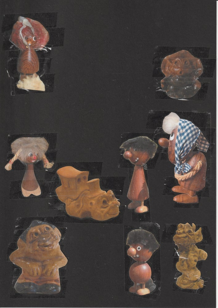 Image of 'Goldilocks' Paper collage