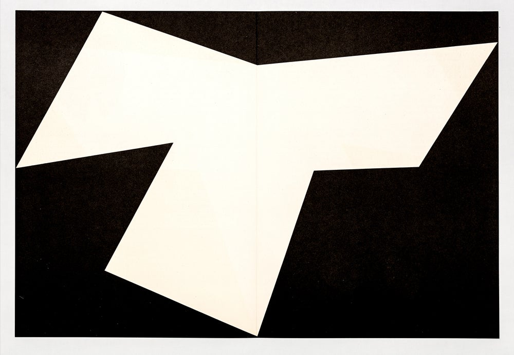 Image of Ellsworth Kelly, Derrière le Miroir - Kelly No. 110, 1958, black / white