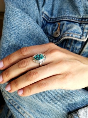 Image of Bague turquoise du Tibet - taille 56 - #4639