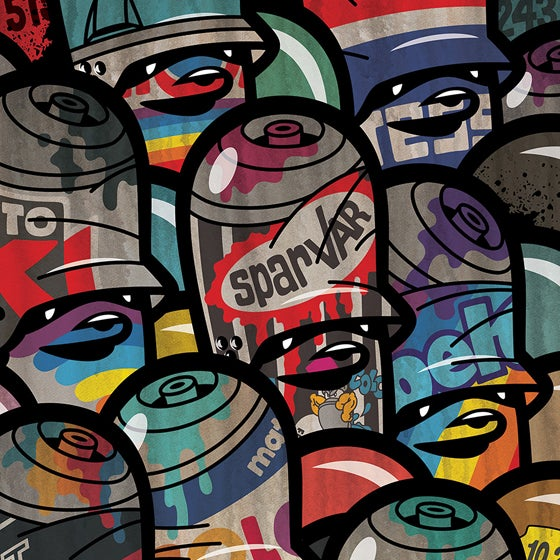 Image of Rusty Oldschool Cans 2020 / print