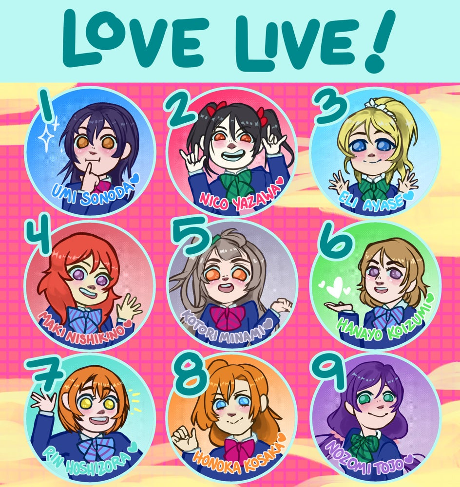 Love Live! Buttons