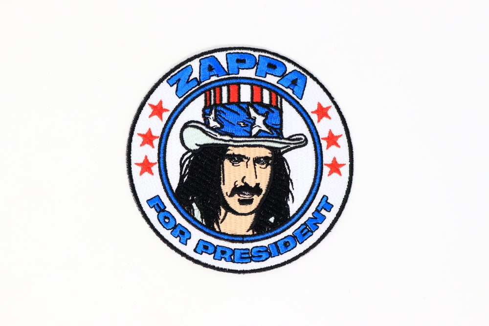 Image of Frank Zappa - Zappa For President Iron On Patch