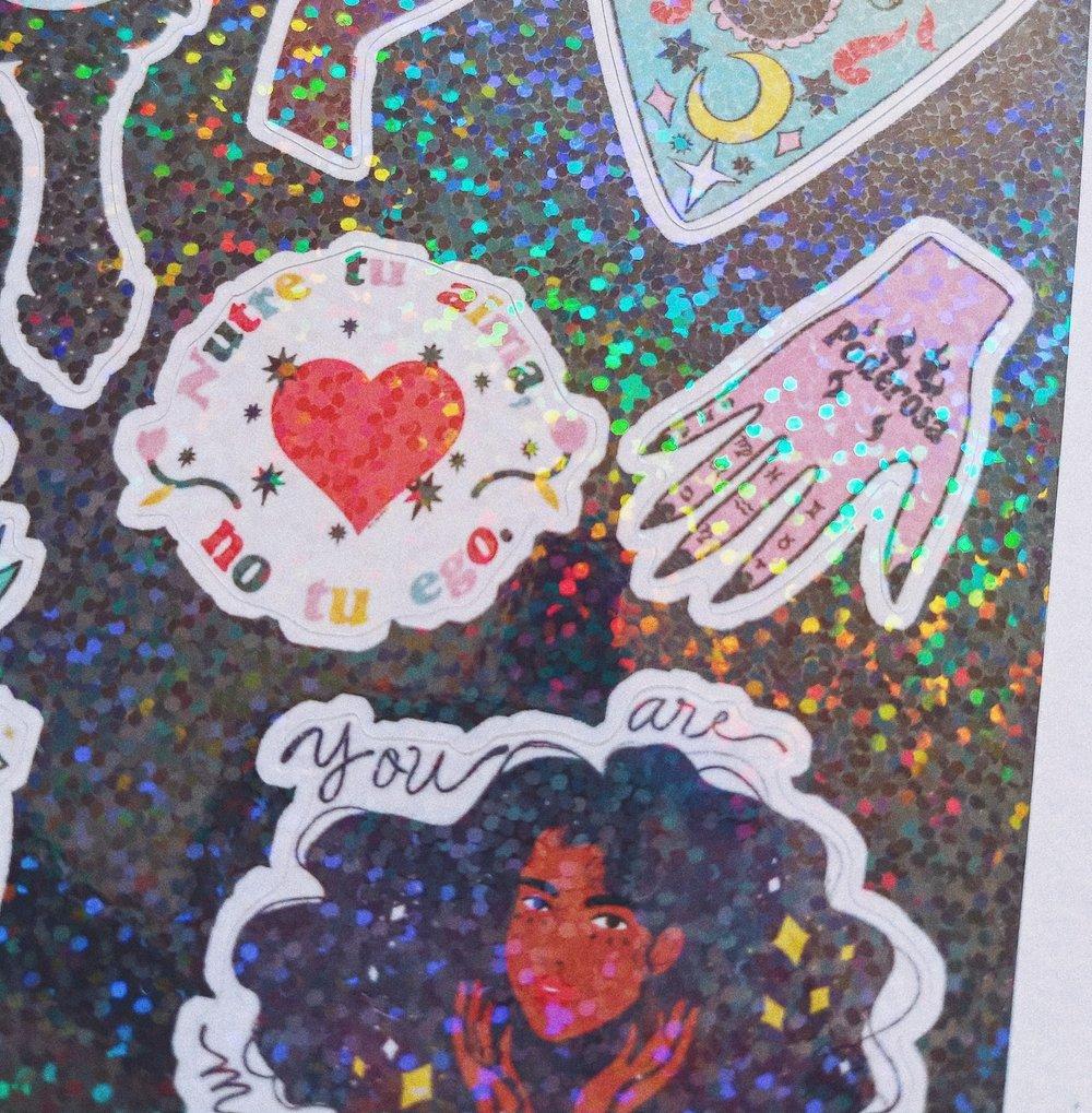 Image of Bruja Mini Sticker Sheet