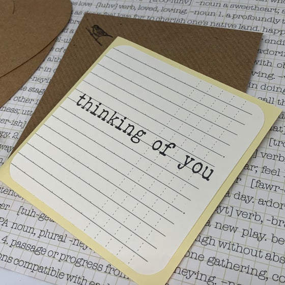 Image of thinking of you gift card