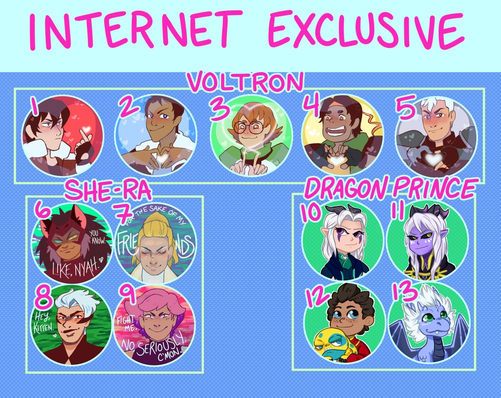 Internet Exclusive Broadcast Buttons!