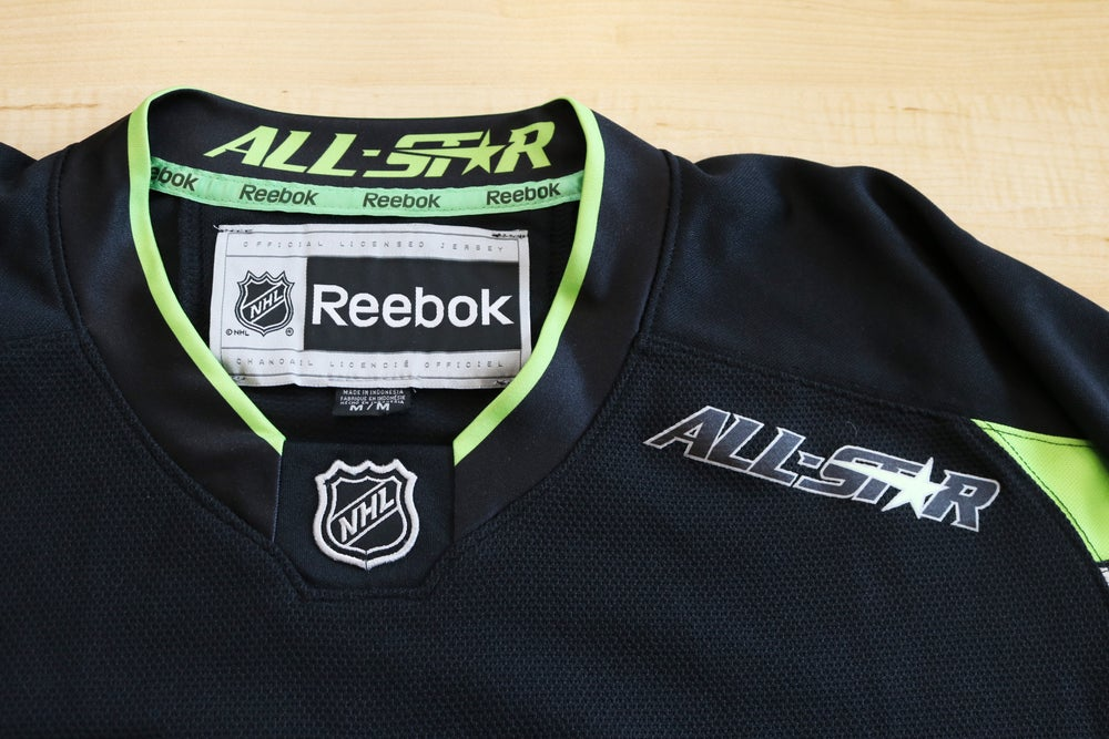 Image of 2015 NHL All Star Game Black & Neon Hockey Jersey Sz.M