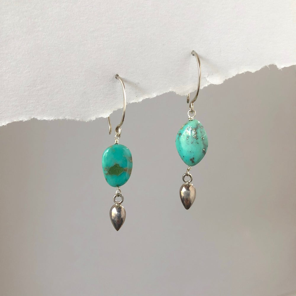 Image of Turquoise Bullet Earrings