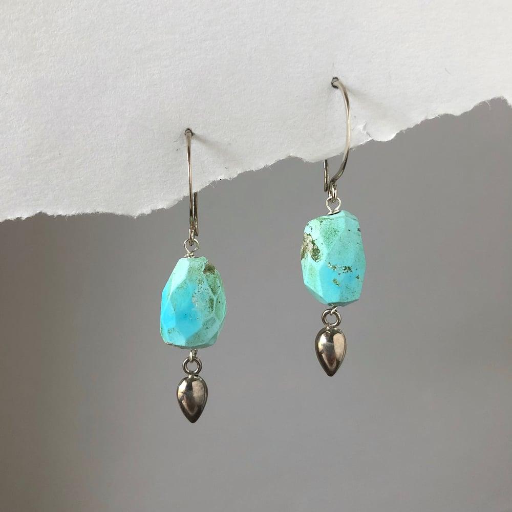 Image of Sleeping Beauty Turquoise Bullet Earrings