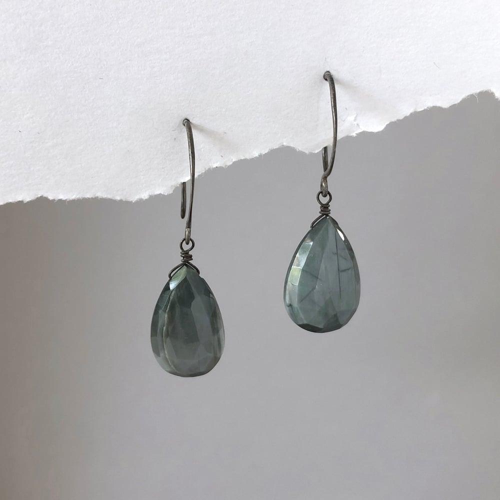 Image of Large Chrysoberyl Drop Earrings