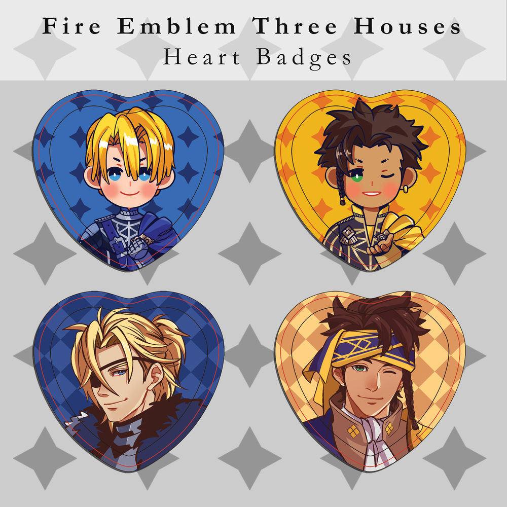 Image of Fire Emblem Three Houses Heart Badges