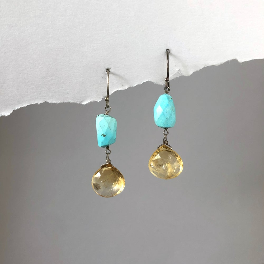 Image of Turquoise & Citrine Drops