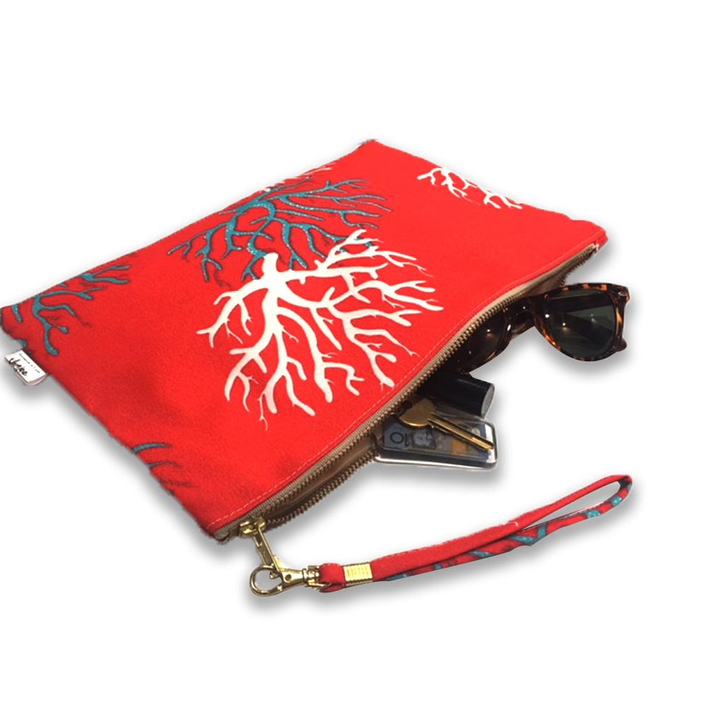 ON SALE 75% Off! Regular $36.00 Crimson Coral Clutch