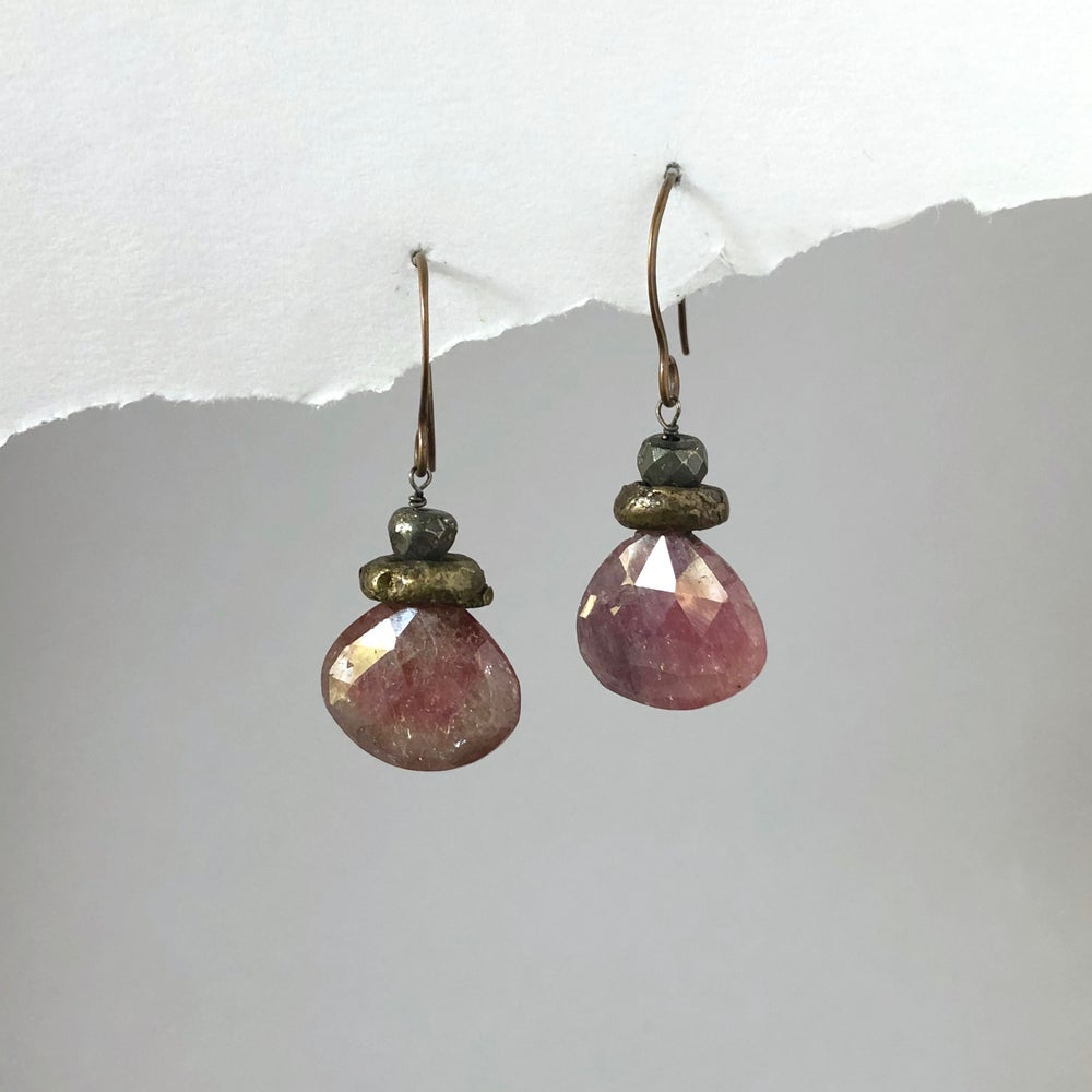 Image of Rustic Red Sapphire Drops