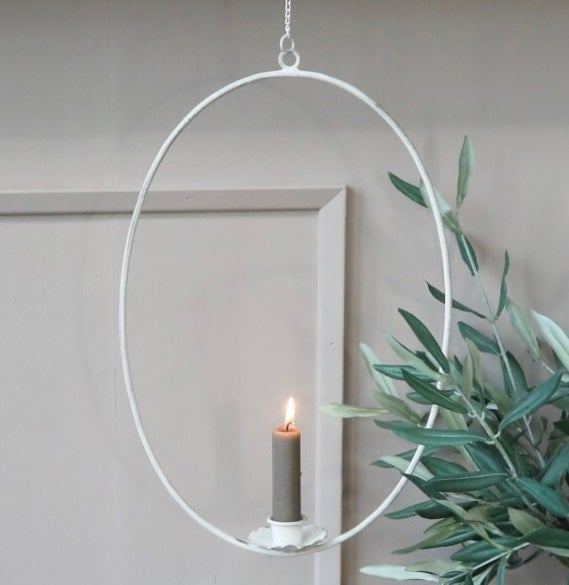 Image of Chic Antique Hanging Candle Wreath