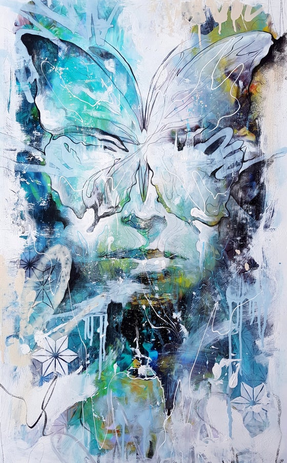 Image of Mask of Freedom - OPEN EDITION PRINT- FREE WORLDWIDE SHIPPING