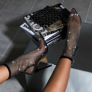 "Image of ""Bossy"" Bling Net Booties"