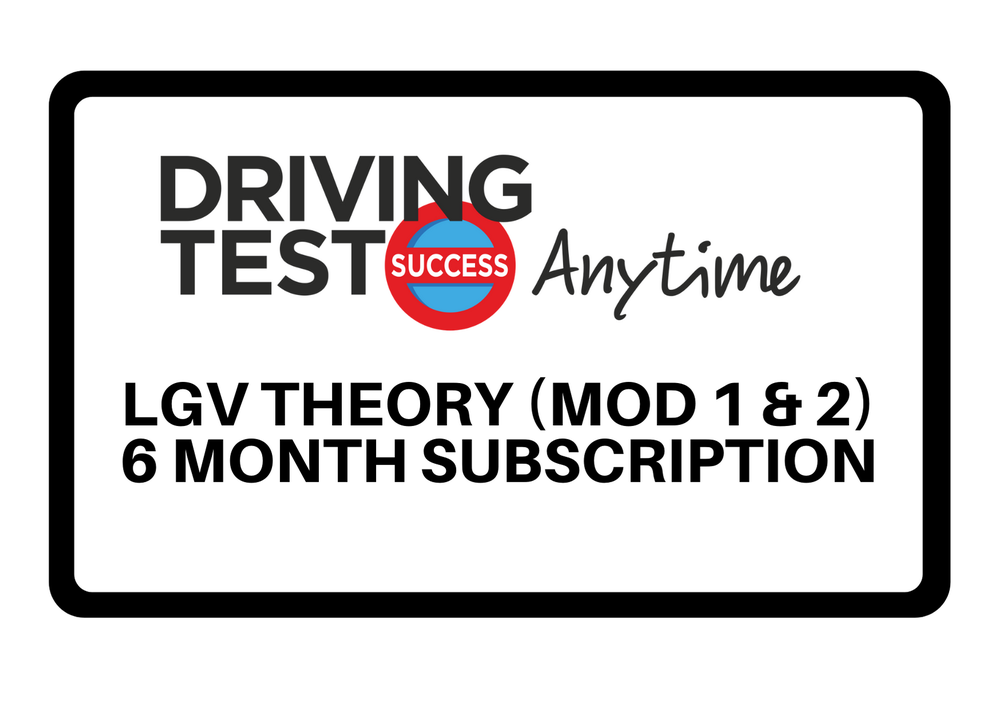 Image of LGV Theory (Module 1 and 2) - 6 month subscription