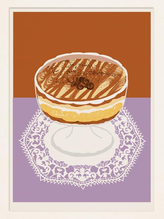 Image of Cake Poster: TIRAMISU