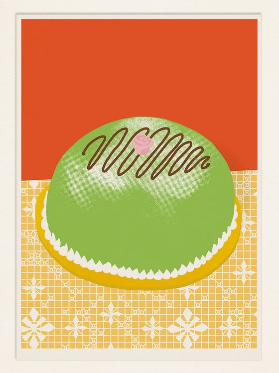 Image of Cake poster: PRINSESSTARTA (Sweden)