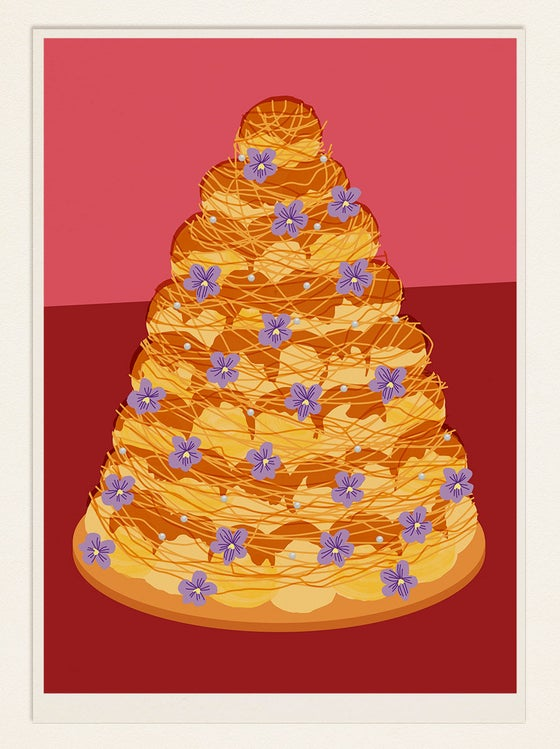 Image of Cake Poster: CROQUEMBOUCHE (France)