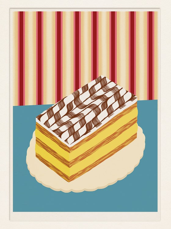 Image of Cake Poster: MILLEFEUILLE (France)