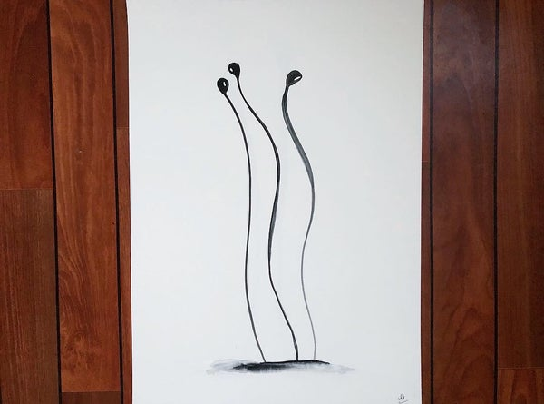 "Image of ""Three Dooz dancing"" Watercolor - A2"