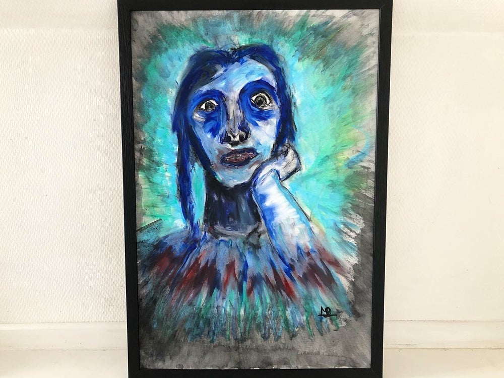 """Image of """"Chactas for Atala"""" Oil Pastel, watercolor and charcoal - 40x60cm"""