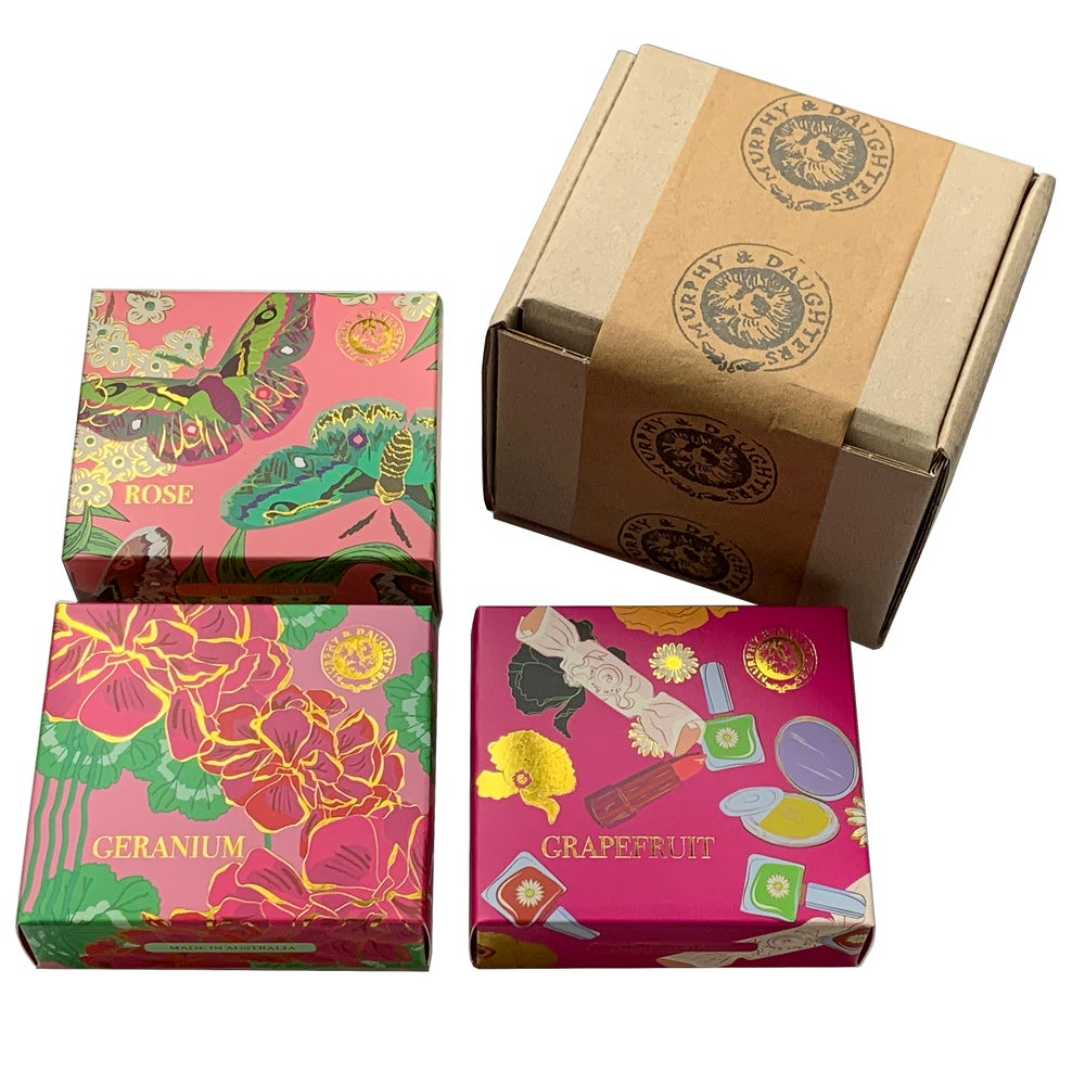 Image of Boxed soaps - pack of 3
