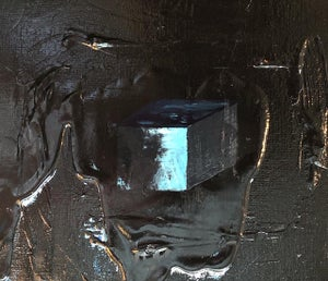 "Image of ""Glow on black background"" Acrylic on canvas - 50x60"