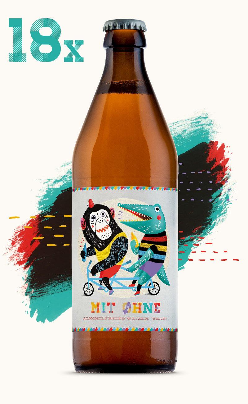 Image of Mit Ohne - 18 Flaschen
