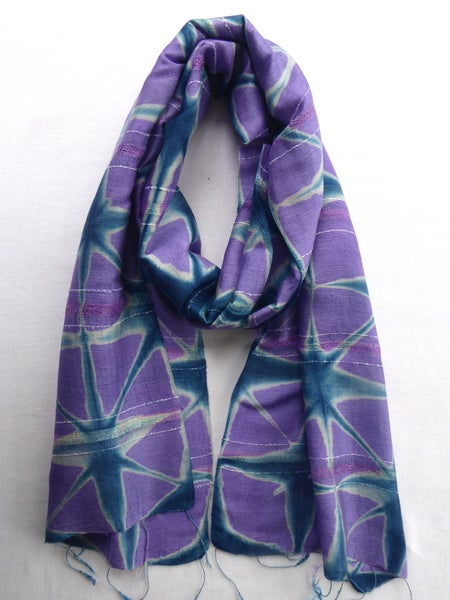 Image of Lilac Stars — Not So Simple Stripe Scarf