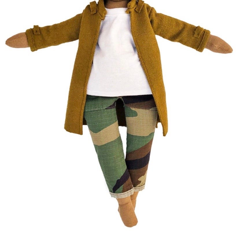Image of 3pc Camo pant, white tee, with coat