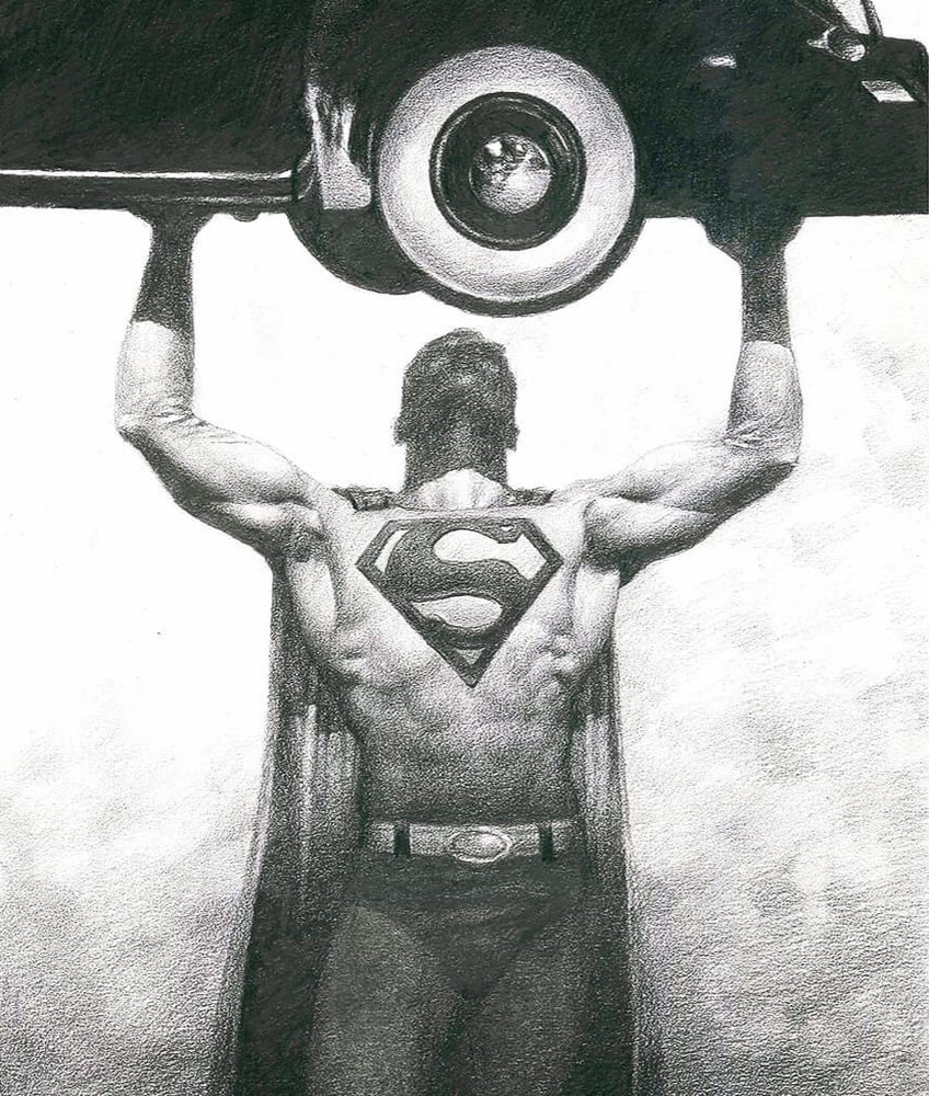 Image of Superman matte print