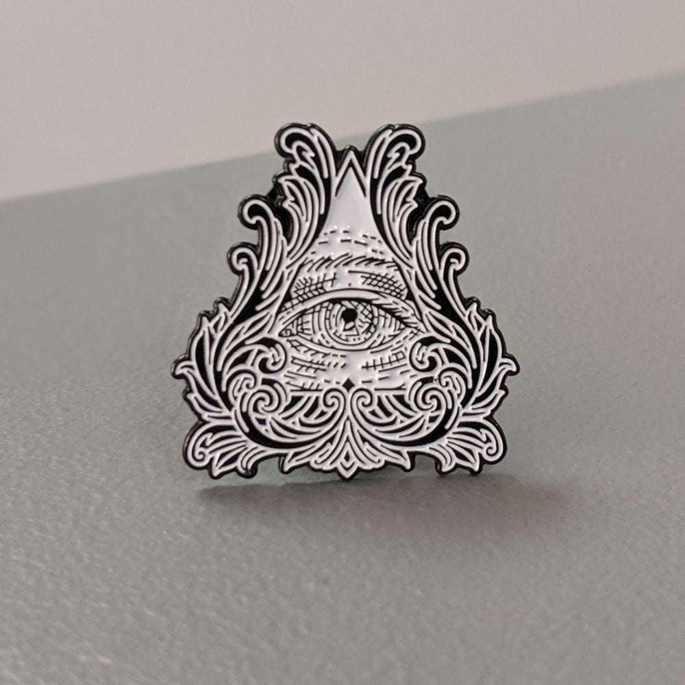 Image of All Seeing Eye Conspiracy Pin